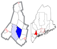 Location of Lewiston, Maine, U.S. (in dark blue)