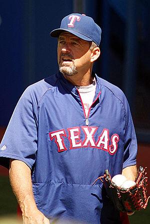 Andy Hawkins - Hawkins as Texas Rangers bullpen coach