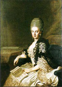 Herzogin Anna Amalia, Porträt von J. E. Heinsius, 1773 (Quelle: Wikimedia)