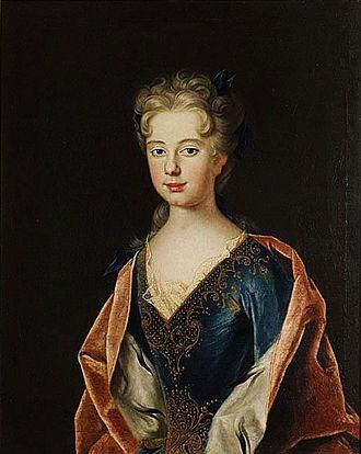 Anna Leszczyńska (1699–1717) - Portrait of Anna Leszczyńska by Johan Starbus, 1712.