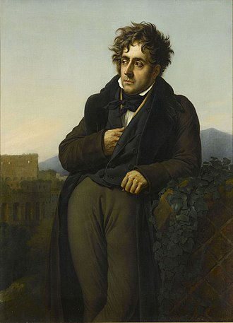 Mémoires d'Outre-Tombe - Chateaubriand Meditating on the Ruins of Rome (c. 1810s) by Anne-Louis Girodet de Roussy-Trioson. Oil on canvas.