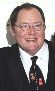 Annie Awards John Lasseter with Cars tie.jpg