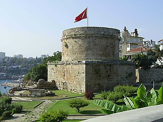 Antalya Province - Hıdırlık Tower dating back to the Hellenistic era