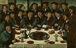 Cornelis Anthonisz.: Meal of Amsterdam militia guardsmen