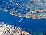 Antioch Bridge aerial view, August 2018.JPG