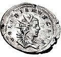Antoninianus of Valerian II - cropped.jpg