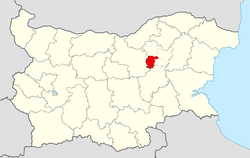 Antonovo Municipality within Bulgaria and Targovishte Province.