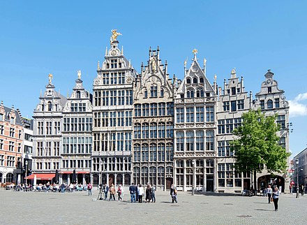16th-century Guildhouses at the Grote Markt. Antwerpen, Gildehauser.jpg