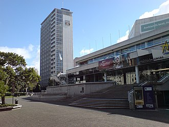 Tibor Donner - The Auckland City Council Administration Building is visible in the rear of this photo.