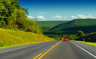 Northeastern United States - U.S. Route 220 as it passes through Lamar Township, Pennsylvania