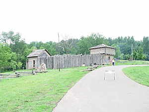 Apple River Fort - Another view of the replica fort