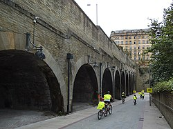 Approach to Bradford Forster Square station (geograph 4667276).jpg