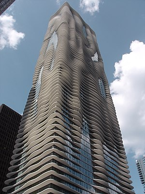 Aqua (skyscraper) - Image: Aqua Tower Chicago