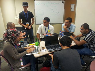 Arabic Wikipedia - Arab Wikipedians meeting during Wikimania conference in Hong Kong