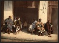 Arabs before a cafe, Algiers, Algeria-LCCN2001697837.tif
