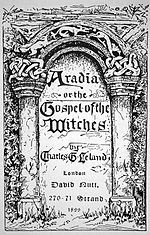 Title page of the original edition of Aradia