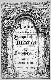 The title page of Aradia, or the Gospel of the Witches.