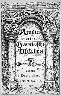 <i>Aradia, or the Gospel of the Witches</i> book by Charles Godfrey Leland