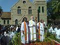 Archbishop of Canterbury visits the Mateer Memorial Church in October 2010.jpg
