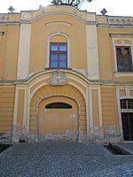 Archiepiscopal Palace, gate in Eger, 2016 Hungary.jpg