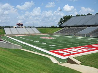 Arkansas State Red Wolves football - Centennial Bank Stadium, formerly known as Liberty Bank Stadium
