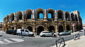 Arles amphitheatre, looking North-East, July 2014.jpg
