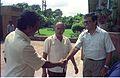 Armoogum Parsuramen Shakes Hands With Tapan Kumar Ganguly In Presence Of Saroj Ghose - NCSM - Calcutta 1994 385.JPG