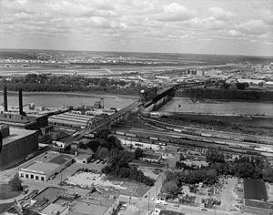 ASB Bridge - ASB Bridge with road deck c.1981.
