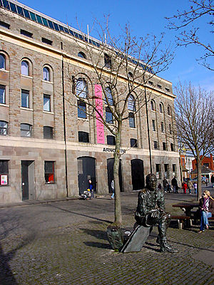 Arnolfini - John Cabot's statue outside the Arnolfini