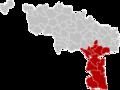 Arrondissement Thuin Belgium Map.png