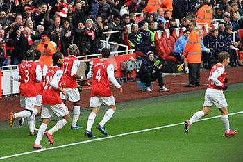 Arsenal goal celebrations