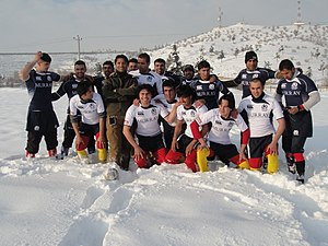 Snow rugby - Snow rugby players in Afghanistan