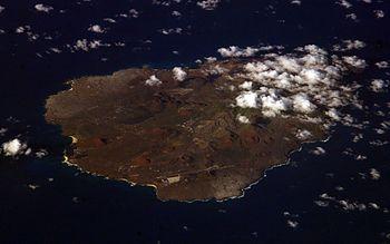 Satellite image of Ascension