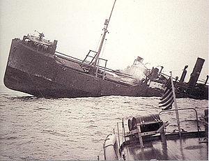 SS Ashkhabad - Ashkhabad shelled