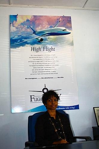 Asian Aviation Centre (Sri Lanka) - Nihara Jayatilleke, Managing Director of the Asian Aviation Centre at her office.