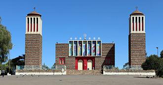 Eritrean Orthodox Tewahedo Church - Enda Mariam Cathedral in Asmara, the seat of the Eritrean Orthodox Tewahedo Church