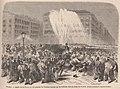Aspect de la Puerta del Sol pendant les troubles suscités par les étudiants dans la soirée du 11 avril.jpg