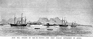 Italian Eritrea - Italian settlement at Assab, 1880