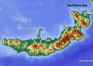 Ataliklikun Bay bay in East New Britain, Papua New Guinea