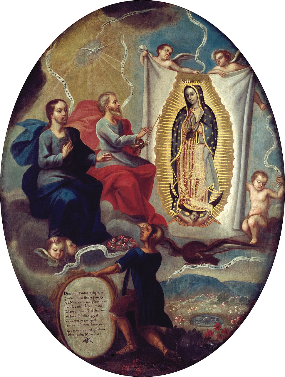 Attributed to Joaquín Villegas - The Eternal Father Painting the Virgin of Guadalupe - Google Art Project