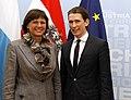 Außenminister Kurz trifft Bayerische Stv- MinPräs. und Staatsministerin Ilse Aigner. (13295166125).jpg