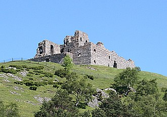 Clan Gordon - The ruins of Auchindoun Castle former seat of the Gordons of Auchindoun.