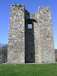 Audley's Castle, closeup