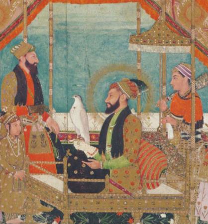Aurangzeb on the throne