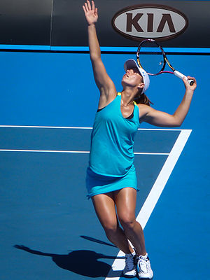 Varvara Lepchenko - Lepchenko serving at the 2012 Australian Open