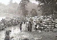 Australian 6th Inf Bde stores Jacquinot Bay November 1944 (AWM photo 076679).jpg