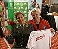 Austrian Olympic Team 2012 a Viktoria Schwarz, Yvonne Schuring 01.jpg