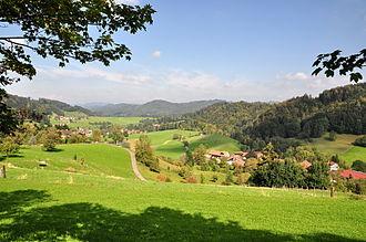 Töss Valley - Töss valley at Bäretswil