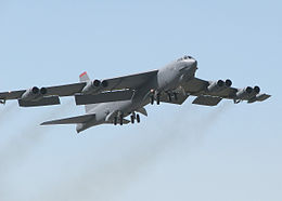 Boeing B-52H taking off