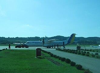 Bosanska Krajina - Image: BH Airlines Banja Luka airport Aug 10 v 1